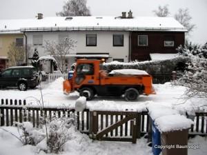 Die Stadt schippt Schnee
