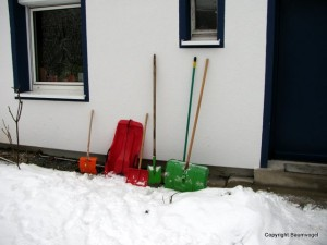 Schneeschipp-Equipment